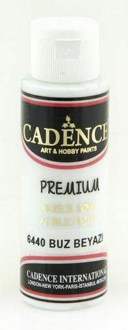 Cadence Premium Acrylic Paint - Ice White 70ml