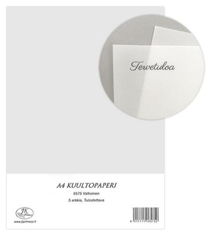 JK Primeco: Kuultopaperi valkoinen A4 (Vellum)