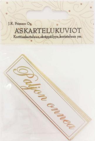 JK Primeco: Paljon Onnea kulta  - leikekuviopakkaus