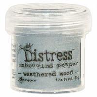 Ranger Distress Embossing Powder: Weathered Wood 34ml