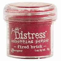 Ranger Distress Embossing Powder: Fired Brick 34ml