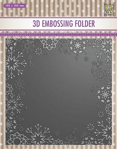 Nellie's Choice: Snowflake frame 3D - kohokuviointikansio