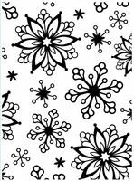 Darice: Snowflakes - kohokuviointikansio