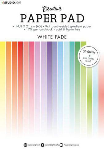 Studio Light Essentials A5 Paper Pad: White Fade  - paperikko