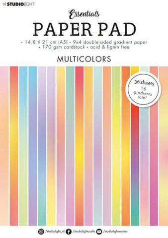 Studio Light Essentials A5 Paper Pad: Multicolors -paperikko