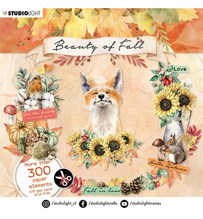 Studio Light: Beauty of Fall Die Cut Book 15 x 15 cm  - leikekuvalehtiö
