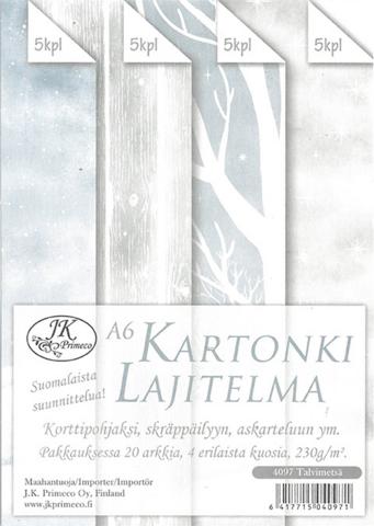 JK Primeco: Talvimetsä A6  - paperikko
