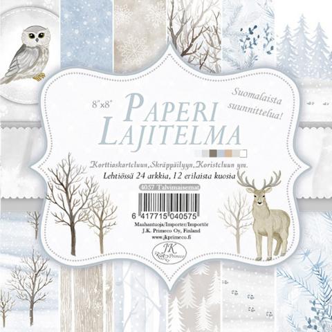 JK Primeco: Talvimaisemat 8 x 8 paperikko