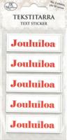 JK Primeco: Tekstitarra Joulu punainen (2 arkkia)
