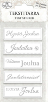 JK Primeco: Tekstitarra Joulu hopeafoil (2 arkkia)
