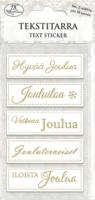 JK Primeco: Tekstitarra Joulu kultafoil (2 arkkia)