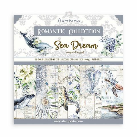 Stamperia: Romantic Collection - Sea Dream 8x8 - paperikokoelma
