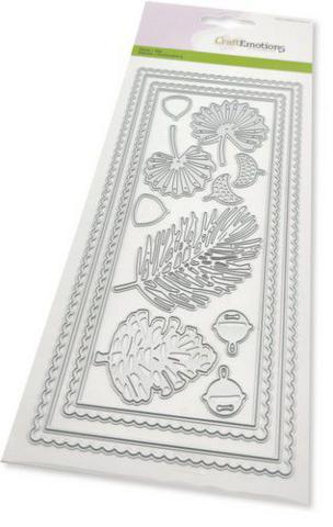 Craft Emotions: Slimline Scallop/ Xmas floristics - stanssisetti