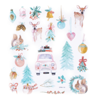 DP Craft Glitter Stickers : Jolly Christmas  -tarra-arkki