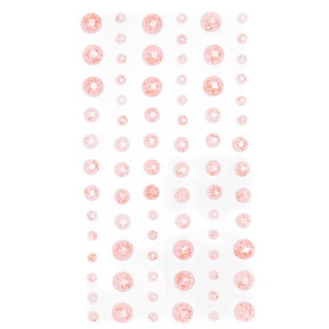 DP Craft Amber Adhensive Stones :  Pink