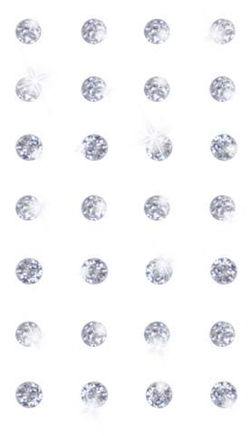 DP Craft Adhensive Stones 8 mm :  Silver