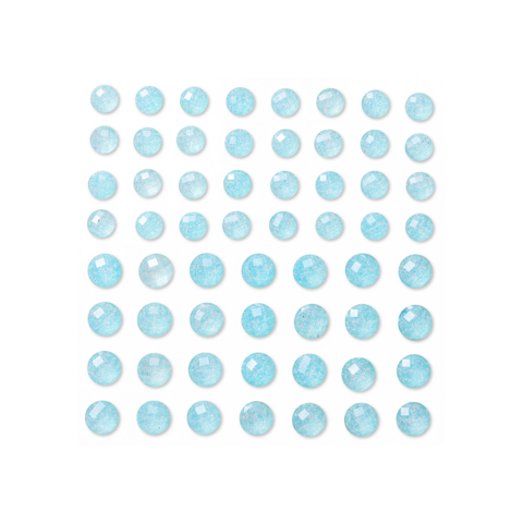 DP Craft Adhensive Glitter Stones : Baby Blue