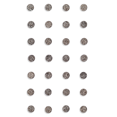 DP Craft Adhensive Stones :  Anthracite 8mm