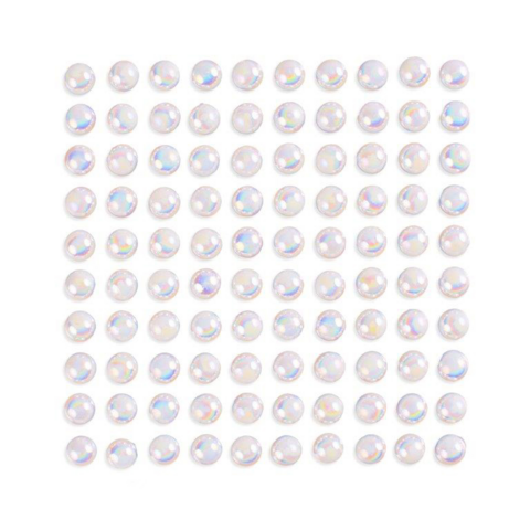 Adhensive Pearls : Opalescent White 8mm