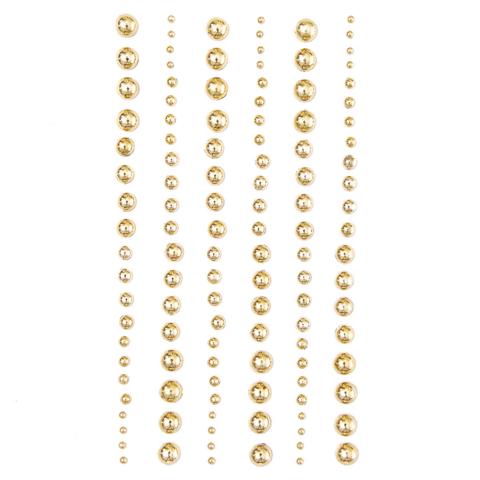 Adhensive Pearls : Mixed Gold