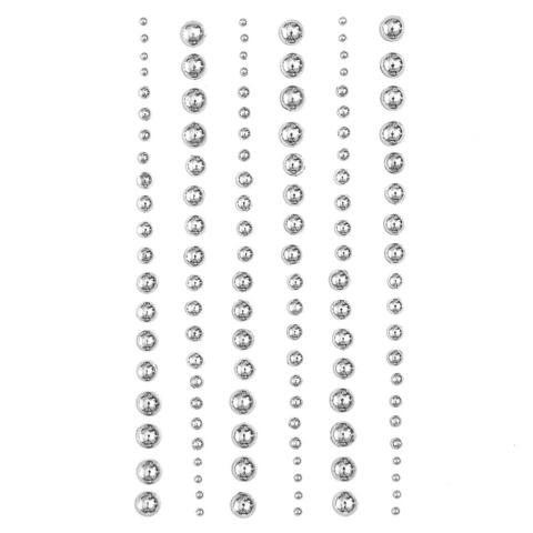 Adhensive Pearls : Mixed Silver