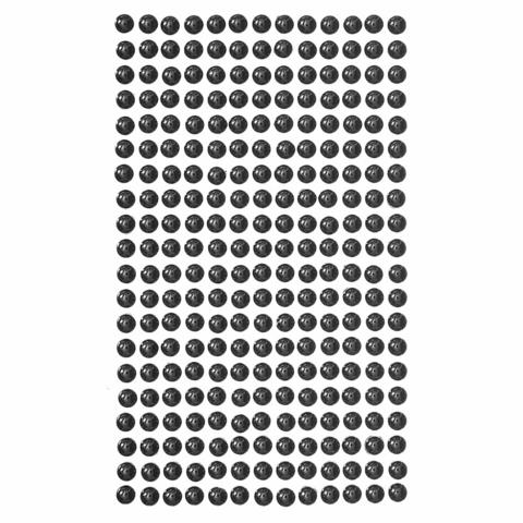 Adhensive Pearls : Black 6 mm