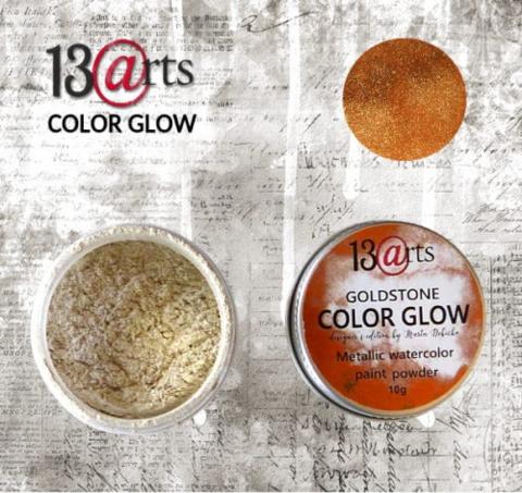 13arts Color Glow Metallic Watercolor : Goldstone 10g - jauhevesiväri