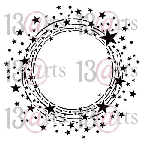 13arts: Circle of stars 6 x 6 -sabluuna