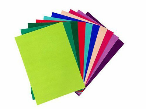 Joy Crafts: Velvet Paper Self-adhesive A4 - Intensive Colors - samettikartonki