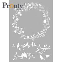 Pronty:  Spring Wreath  A4 -sabluuna