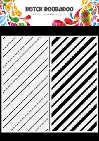 Dutch Doobadoo: Slimline Stripes  21x21 cm -sabluuna