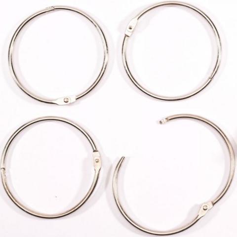 Vaessen Creative Book Binding Rings: Silver 75mm - saranarengaslajitelma