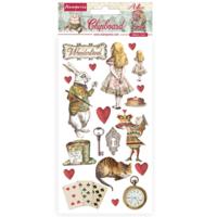 Stamperia: Alice   - chipboard tarra-arkki