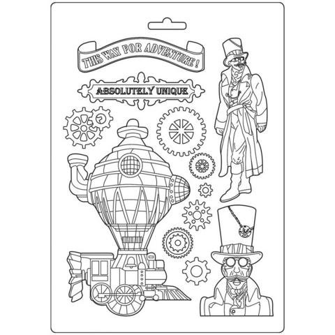 Stamperia Soft Mould A4: Sir Vagabond Train