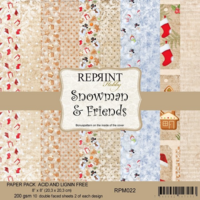Reprint: Snowman & Friends 8x8 - paperikokoelma