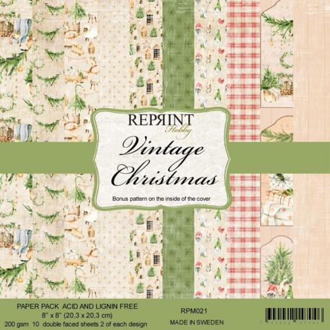 Reprint: Vintage Christmas 8x8 - paperikokoelma