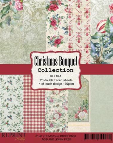 Reprint: Christmas Bouquet 6 x6 - paperikokoelma
