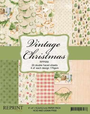 Reprint: Vintage Christmas 6 x6 - paperikokoelma