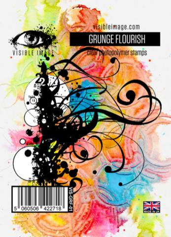 Visible Image: Grunge Flourish  -leimasin