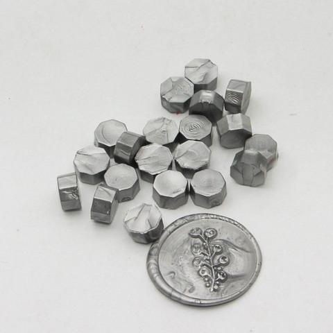 DIY & Cie Wax Beads: Silver 35 g - sinettivahahelmet