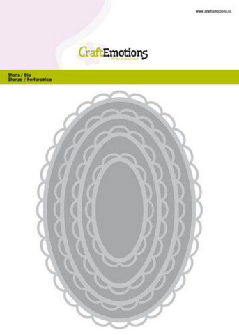 Craft Emotions Big Nesting Dies: Open Scallop Ovals  - stanssisetti