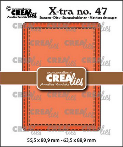 Crealies X-tra: Stitched ATC - stanssisetti