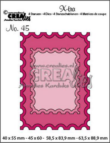 Crealies X-tra: Stamp ATC + smaller stamp - stanssisetti