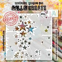 Aall & Create STENCIL Lotza Starz  #126 - sabluuna