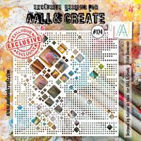 Aall & Create STENCIL Lotza Diamondz  #124 - sabluuna
