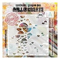 Aall & Create STENCIL Lotza Semicirclz  #125 - sabluuna