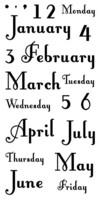Inkadinkado: Months and Days - kirkas leimasinsetti
