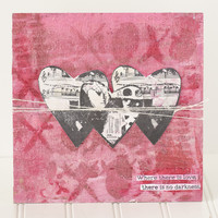 Dina Wakley: Clearly Collaged Hearts - kirkas leimasinsetti