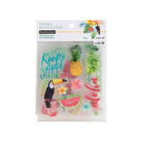 Recollections Tropical Life Clear Stickers -tarrapakkaus