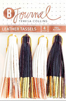 Teresa Collins B Journal Leather Tassels